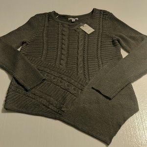 Dana Buchman gray sweater L